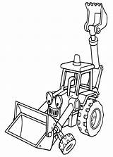 Digger Coloring Pages Getcoloringpages Cartoon Tractor Backhoe Dirt sketch template