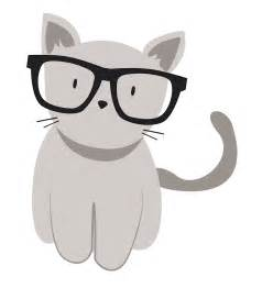 Cat with Hipster Glasses Drawings