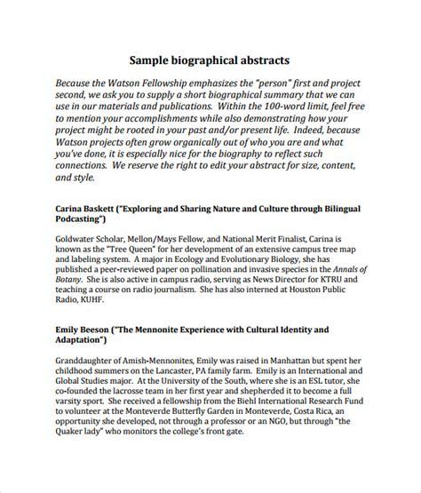 sample biography   ms word