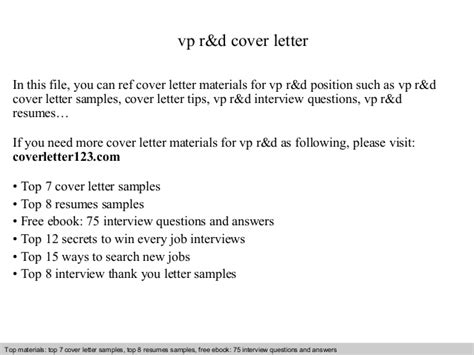 how to write a letter about yourself vp r d cover letter 43607