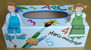 Boite A Mouchoir Original : boite mouchoirs cole cadeau pour une maitresse mes cr ations coralie74500 photos club ~ Melissatoandfro.com Idées de Décoration