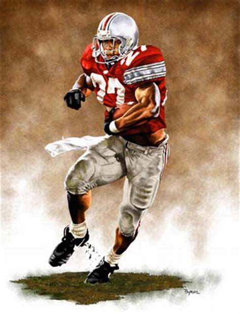 eddie george ohio state sports art pictures poster eddie