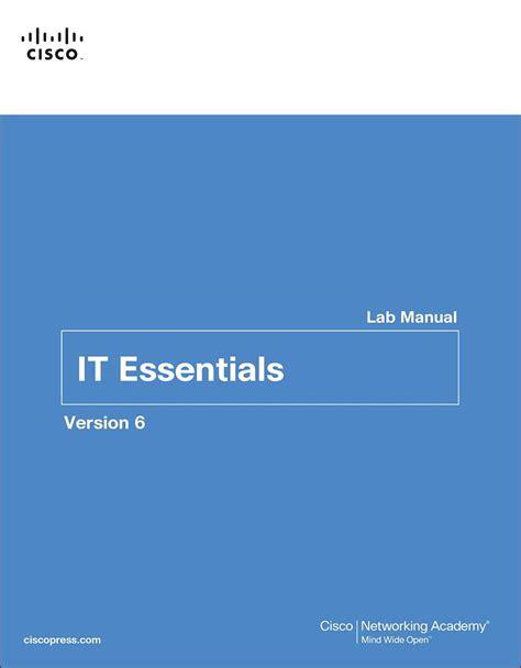 It Essentials Lab Manual Version 6 6th Edition