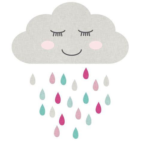 muursticker wolk slaapt pink kinderkamer muurstickers