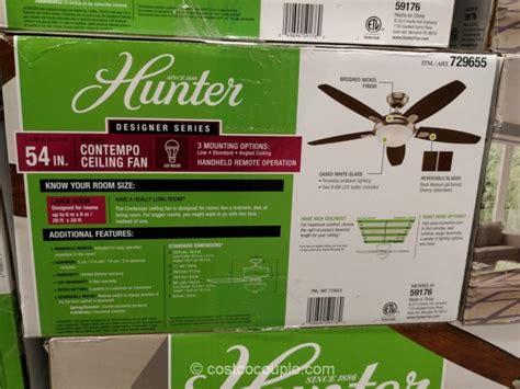 hunter avia 54 led ceiling fan costco hunter ceiling fan pranksenders