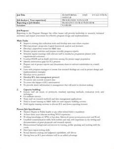 Sample Job Description Format
