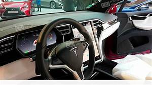 The Interior Of A Tesla Model X Electric Car Stock video footage | 11365655