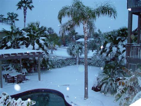 winter  port aransas christmas day snow