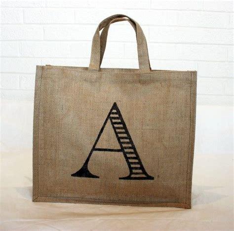 monogram burlap tote bag burlap tote bags burlap tote custom bags