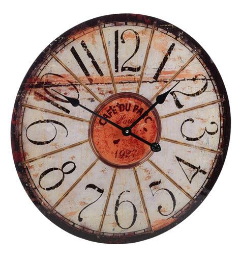 shabby chic large wall clocks shabby chic 57cm glass wall clock 306890
