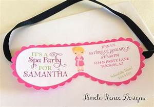 printable spa party mask invitation your choice of With spa mask invitation template