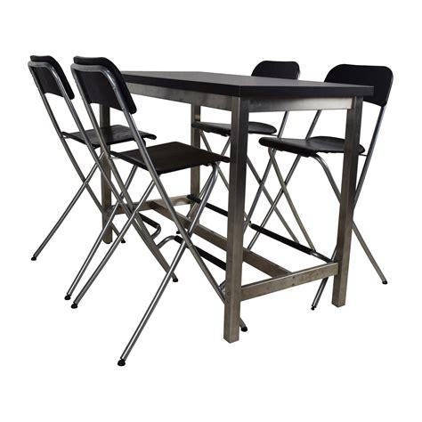 ikea black folding chairs chair replica le corbusier