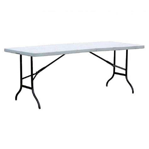 table de bureau pliante table pliante blanche l183 x p76 x h74 cm matériel de