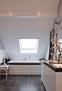 Sloped Bathroom Ceiling Transitional Bathroom Mi Casa