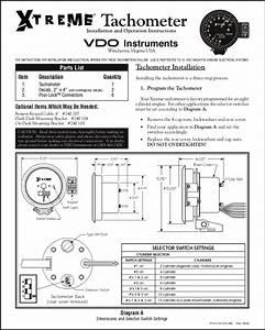 Vdo Extreme Tachometer Installation Instructions