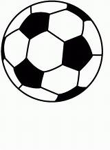 Printable Soccer Coloring Balls Pages Popular sketch template