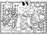 Games Coloring Game Arcade Tickets Character Characters Drawing Template Drawings sketch template