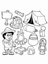 Coloring Pages Camping Printable Bright Choose Colors Favorite sketch template