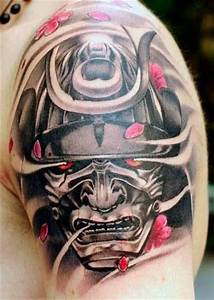 Tattoo. Japanese samurai mask inspired | Tattoos ...