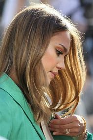 Jessica Alba Golden Brown Hair Color