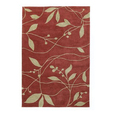 simple area rugs kas rugs simple leaf rust 8 ft x 10 ft area rug