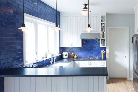 kitchen backsplash ideas beautiful blue kitchen design ideas