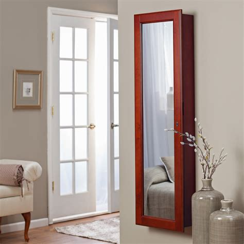 varied kinds  wall mount jewelry armoire
