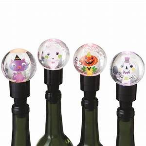 Lighted Wine Bottle Stoppers Lighted Halloween Character Wine Bottle Stoppers Set Of 4