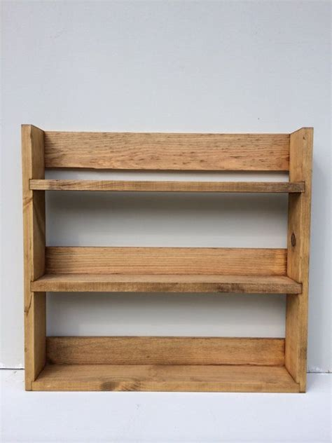 Spice Rack Shelves by Reclaimed Rustic Wooden Spice Rack 3 Shelves By
