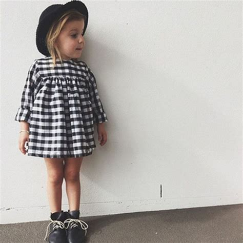 black  white gingham dress toddler style baby