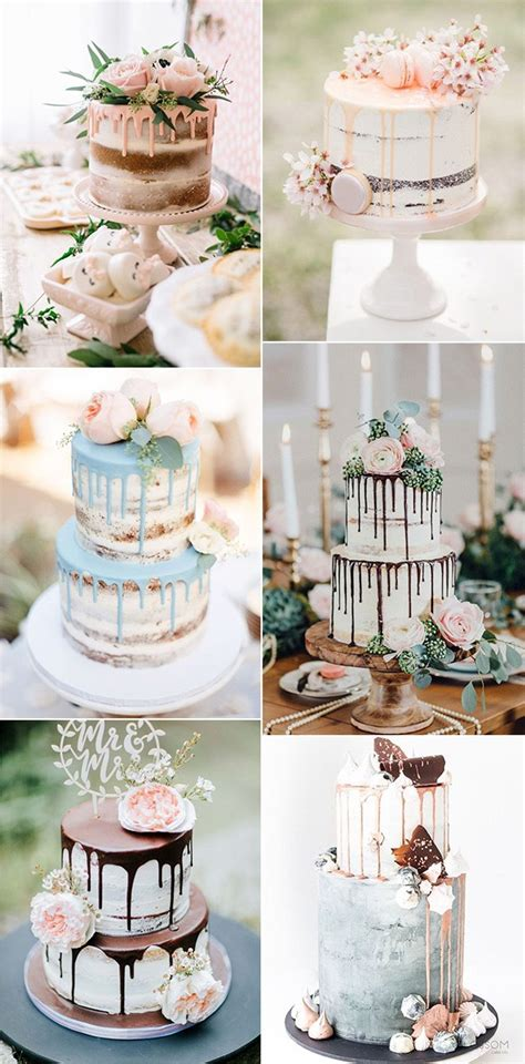 trending  dreamy drip wedding cakes  love page