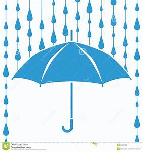Umbrella Raindrops Clipart - ClipartXtras