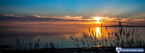 lake sunset nature  landscape facebook covers photo