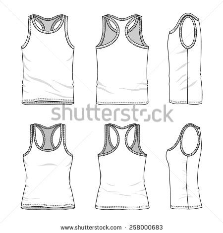 tank top template tank top template stock images royalty free images vectors