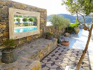 kieselstein mosaik im garten legen fur hubsche wege With französischer balkon mit mosaik für den garten