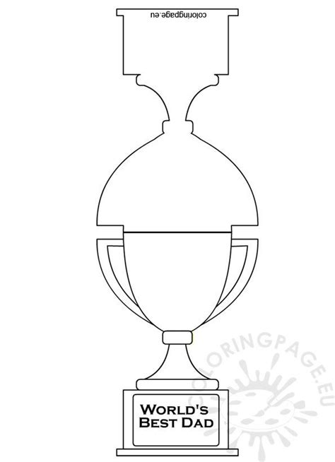worlds  dad trophy card coloring page