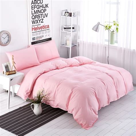 new bedding set sweetheart full pink style striped bed