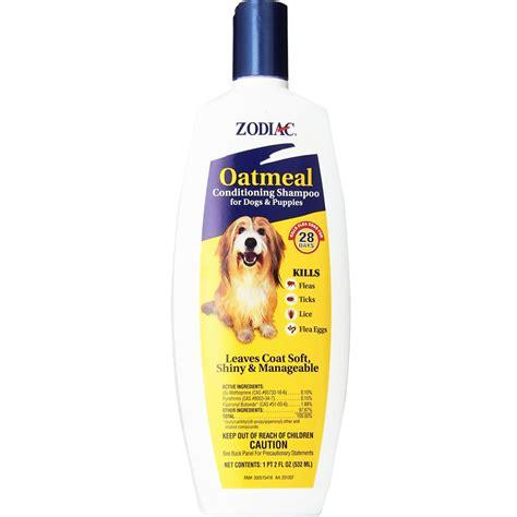 zodiac flea tick oatmeal conditioning shampoo  dogs