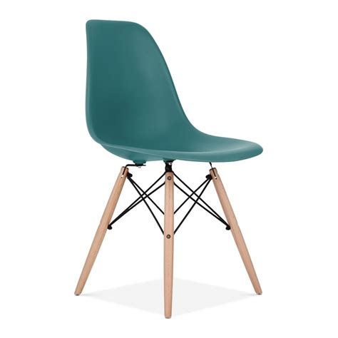 teal charles eames style dsw chair side cafe chairs