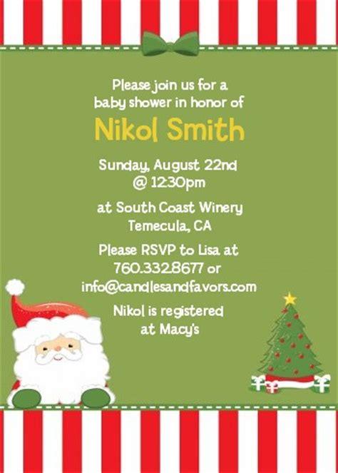 santa claus christmas invitations candles  favors