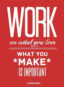 Love Your Job Typography Design Posters | A Depiction ...