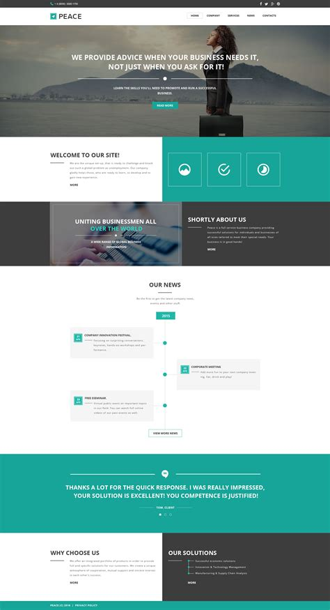 homepage template business responsive website template 57549