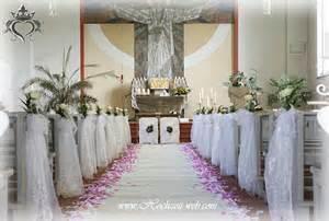 hochzeitsdekoration kirche kirchendekoration und dekoration für trauung im freien