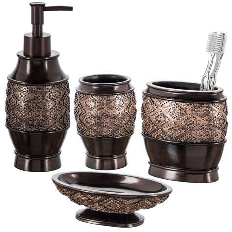creative scents dublin  piece bathroom accessories set