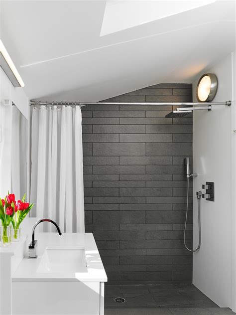 grey slate bathroom wall tiles ideas  pictures