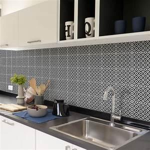 Stickers Carreaux Cuisine : 60 stickers carreaux de ciment azulejos guelo cuisine ~ Preciouscoupons.com Idées de Décoration