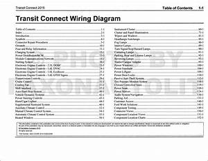 2015 Ford Transit Connect Wiring Diagram Manual Original