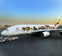 Emirates' super jumbo message against the illegal wildlife ...