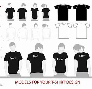 Vector tshirt model template free download t shirt template for T shirt template with model