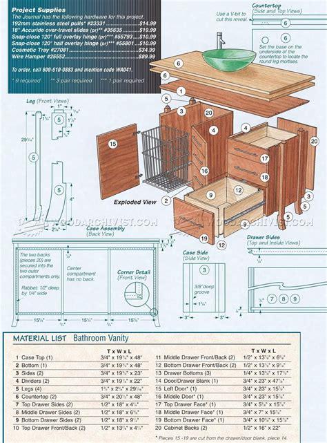 Bathroom Vanity Plans • Woodarchivist